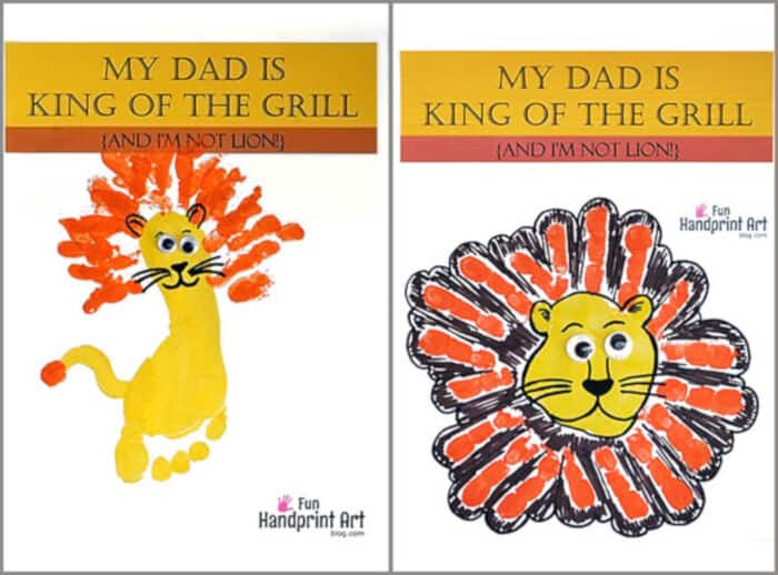 My Dad Is King of the Grill by Fun Handprint Art