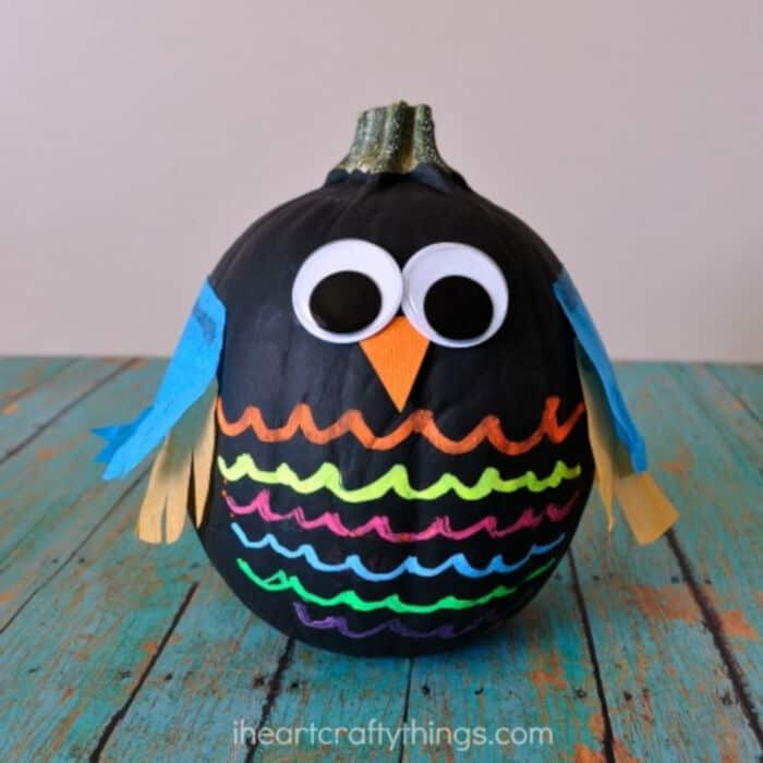 No Carve Owl Pumpkins by I Heart Crafty Things