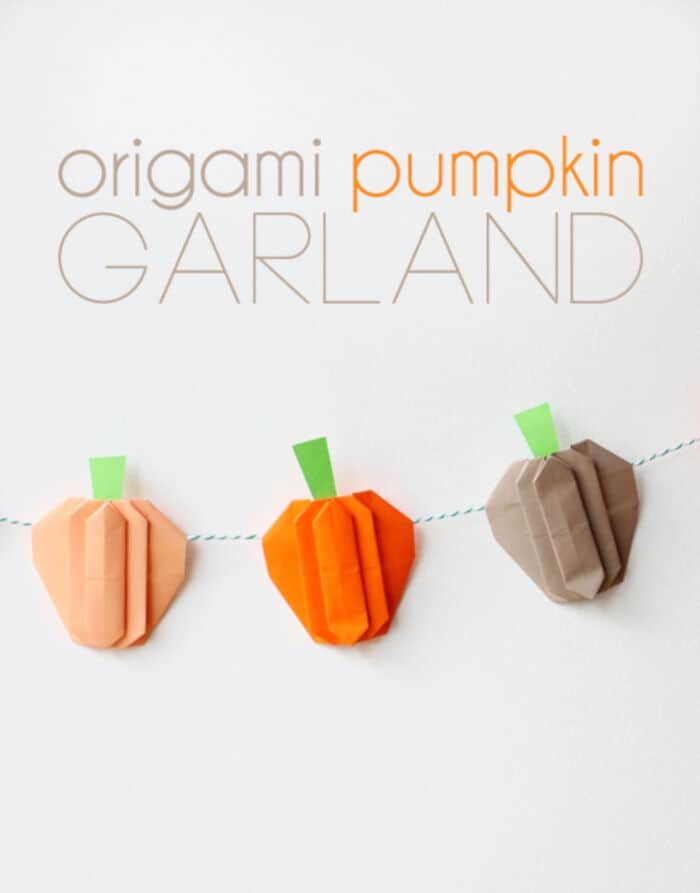 Origami Pumpkin Garland by My Poppet