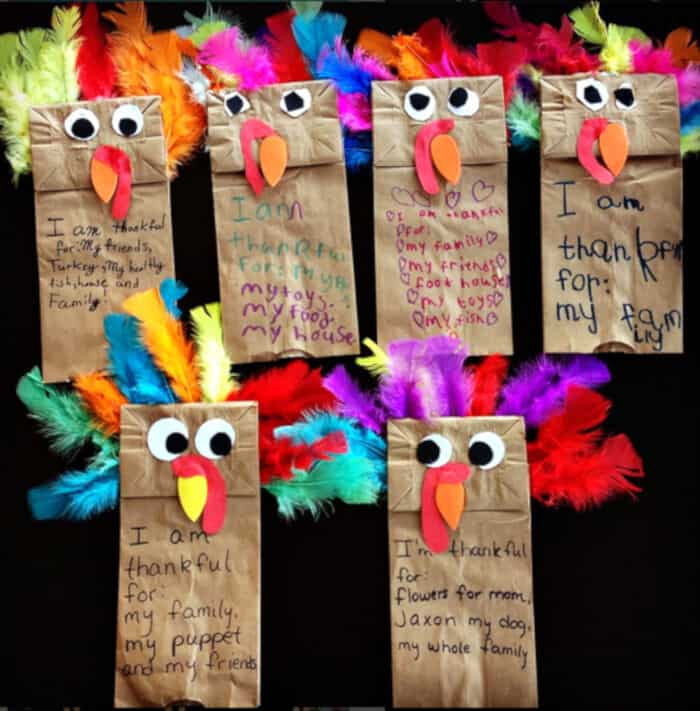 Paper Bag Turkey Puppets by Crafty Morning