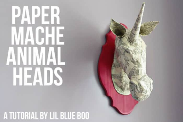 Paper Mache Animal Heads by Ashley Hackshaw