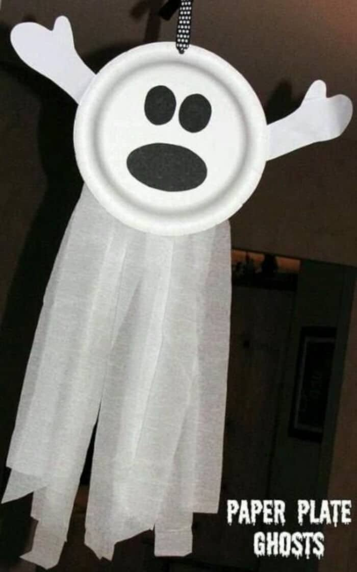 Paper Plate Ghosts by Fun Holiday Crafts