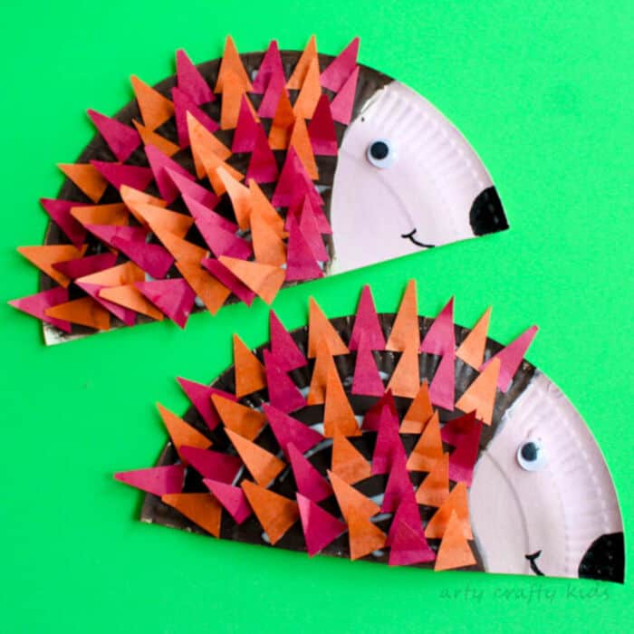 Paper-Plate-Hedgehog-Craft-by-Arty-Crafty-Kids