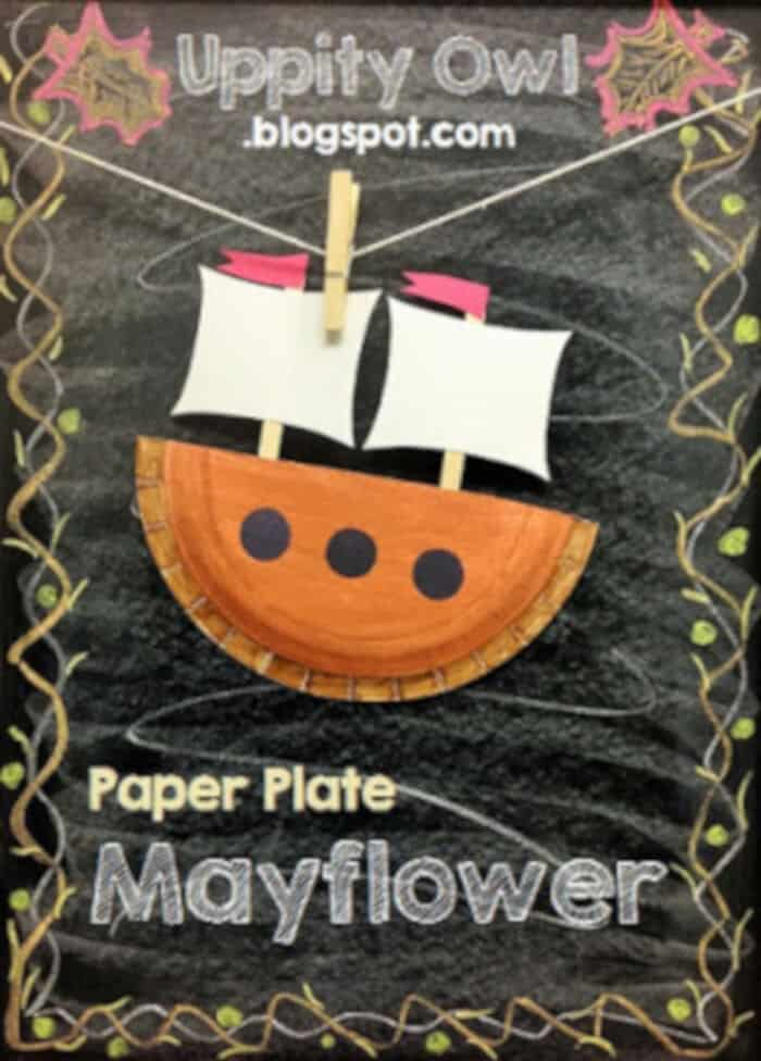 Paper Plate Mayflower Craft Kit by Uppity Owl