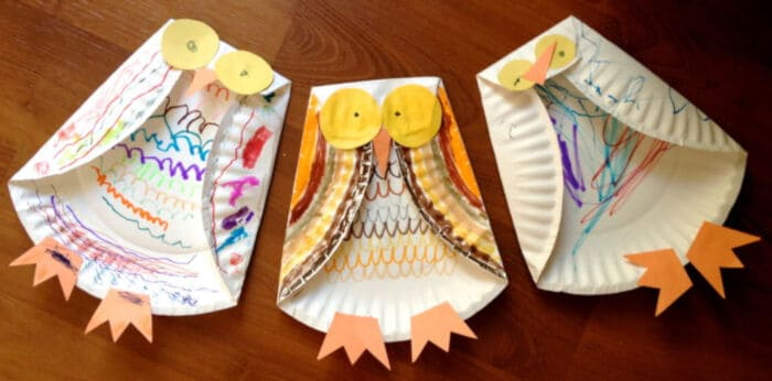 Paper Plate Owl by Huppie Mama