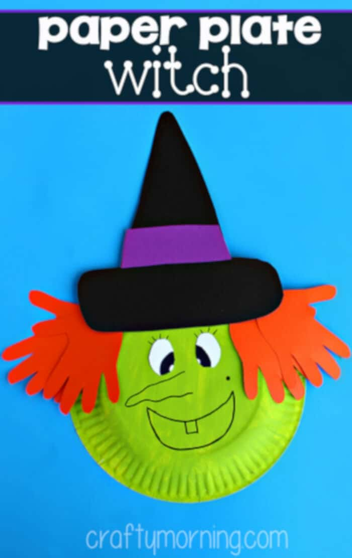 Paper Plate Witch Craft by Crafty Morning