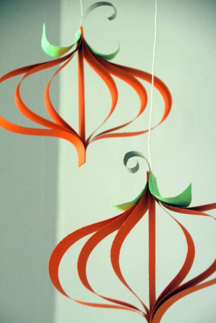 Paper Pumpkin Craft by Meaningful Mama