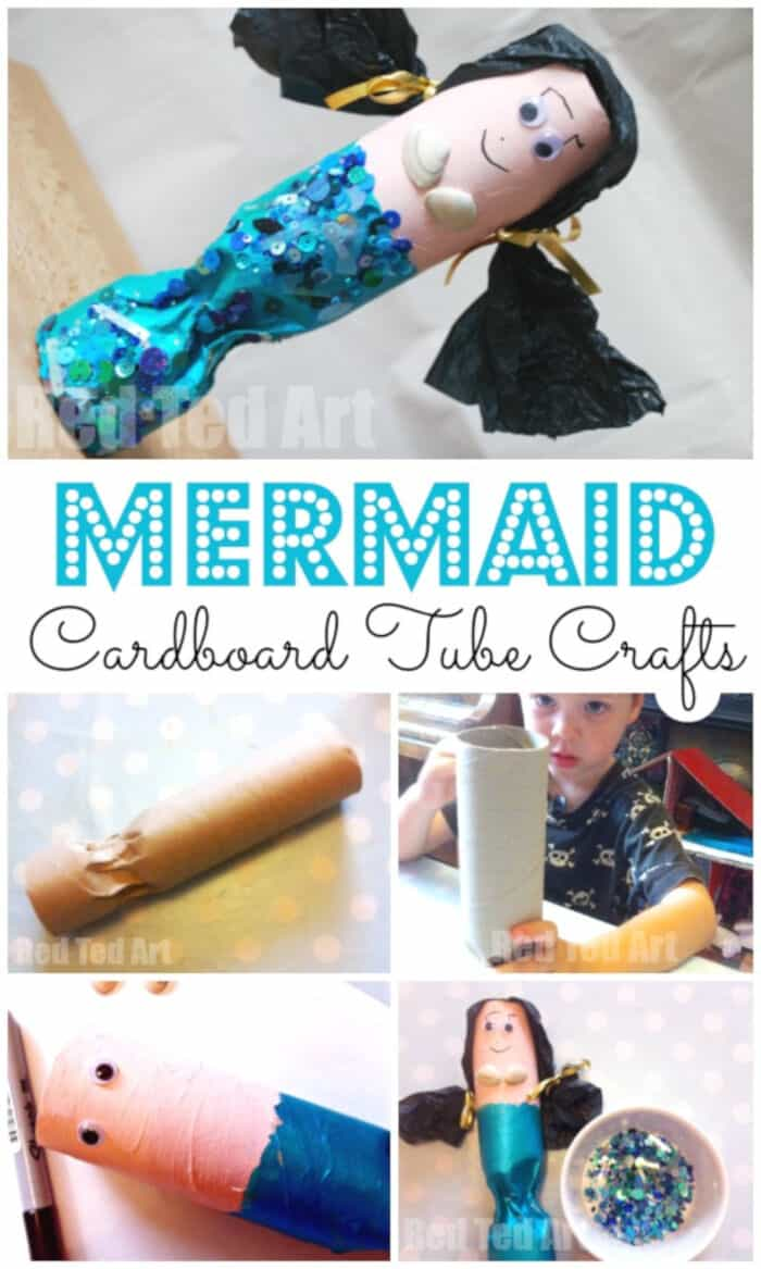 Paper-Roll-Mermaid-Craft-by-Red-Ted-Art