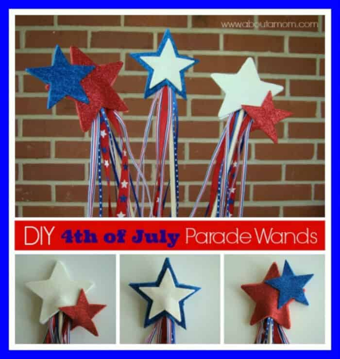 Parade Wand 4th of July Craft for Kids by About a Mom