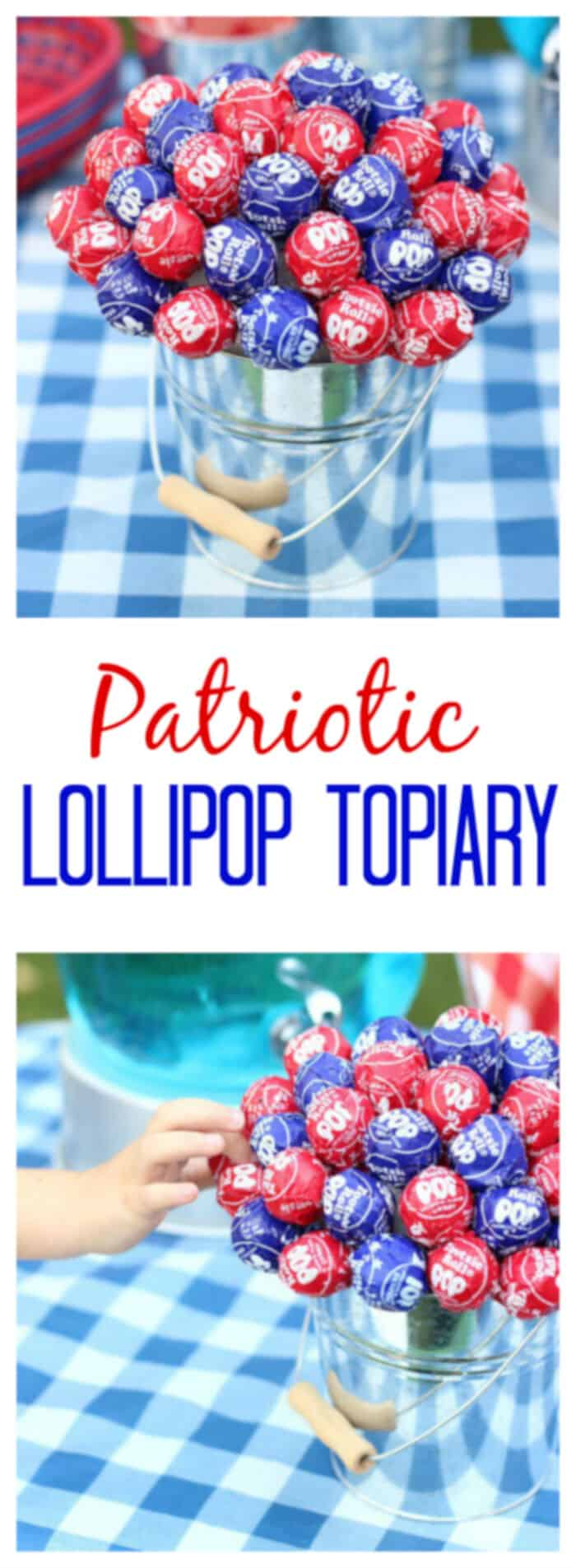 Patriotic Lollipop Topiary by Gluesticks