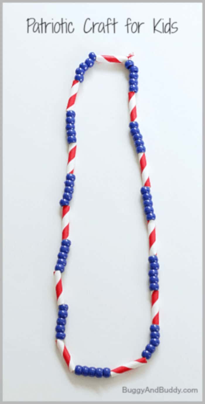 Patriotic Necklace by Buggy and Buddy