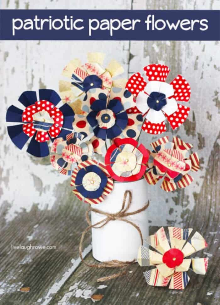 Patriotic Paper Flowers by Live Laugh Rowe