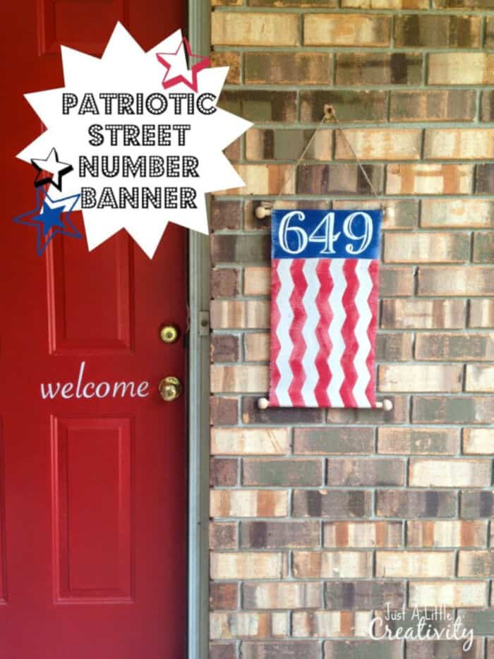 Patriotic Street Number Banner by Just a Little Creativity