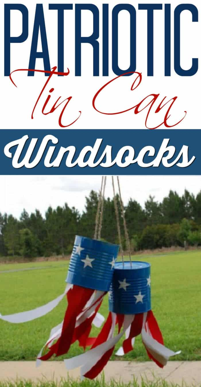 Patriotic Tin Can Windsocks by A Little Craft In Your Day
