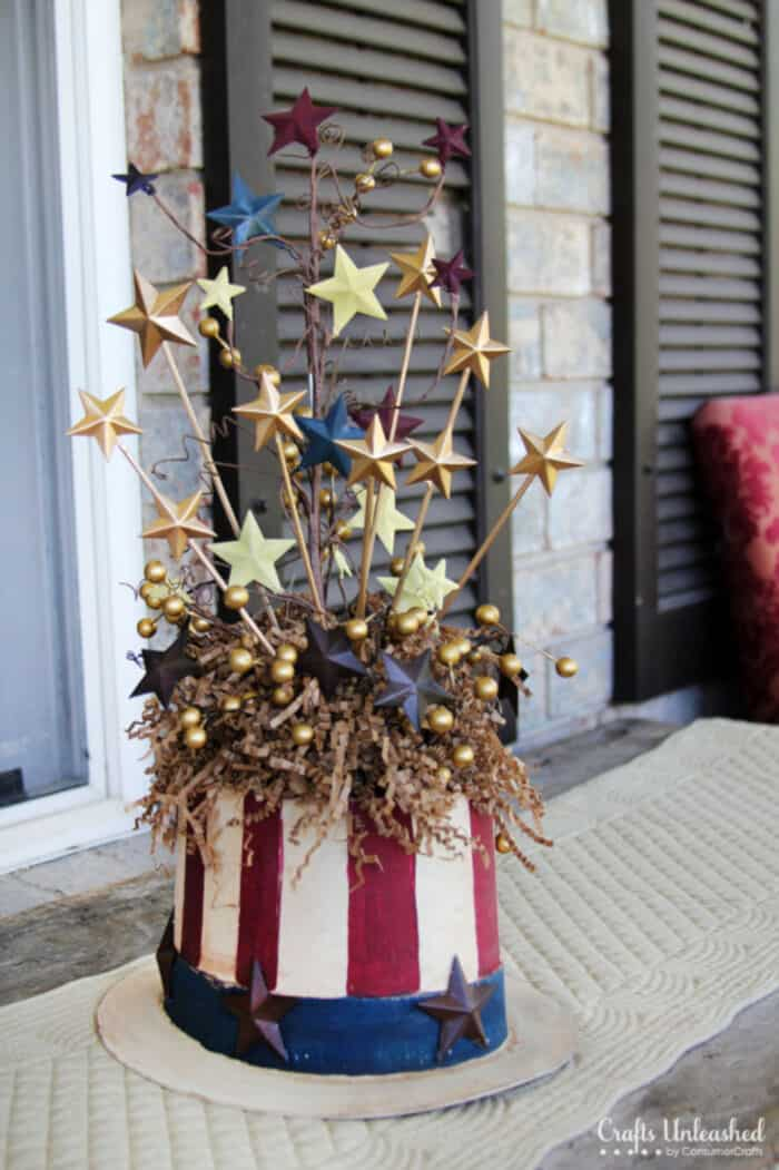 Patriotic Uncle Sam Centerpiece by Crafts Unleashed