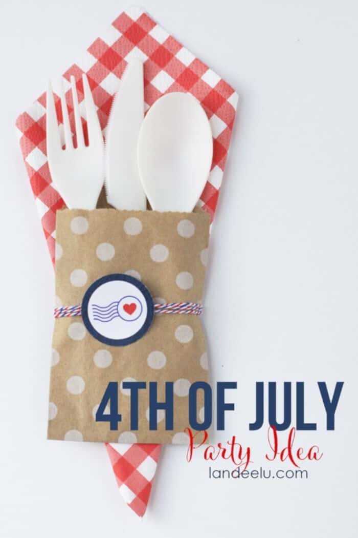 Patriotic Utensil Holders by Landeelu