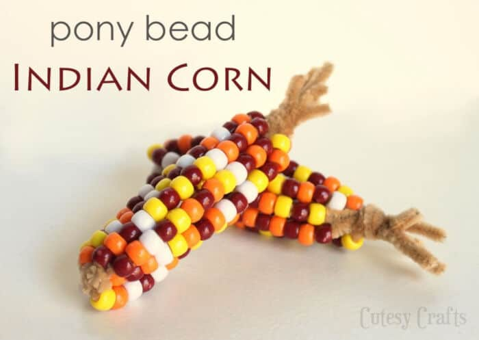 Pony Bead Indian Corn by Cutesy Crafts