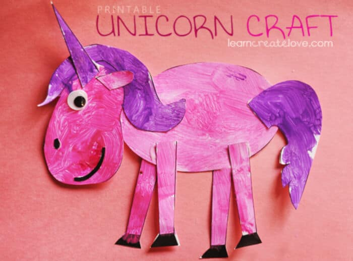 Printable Unicorn Craft by Learn Create Love