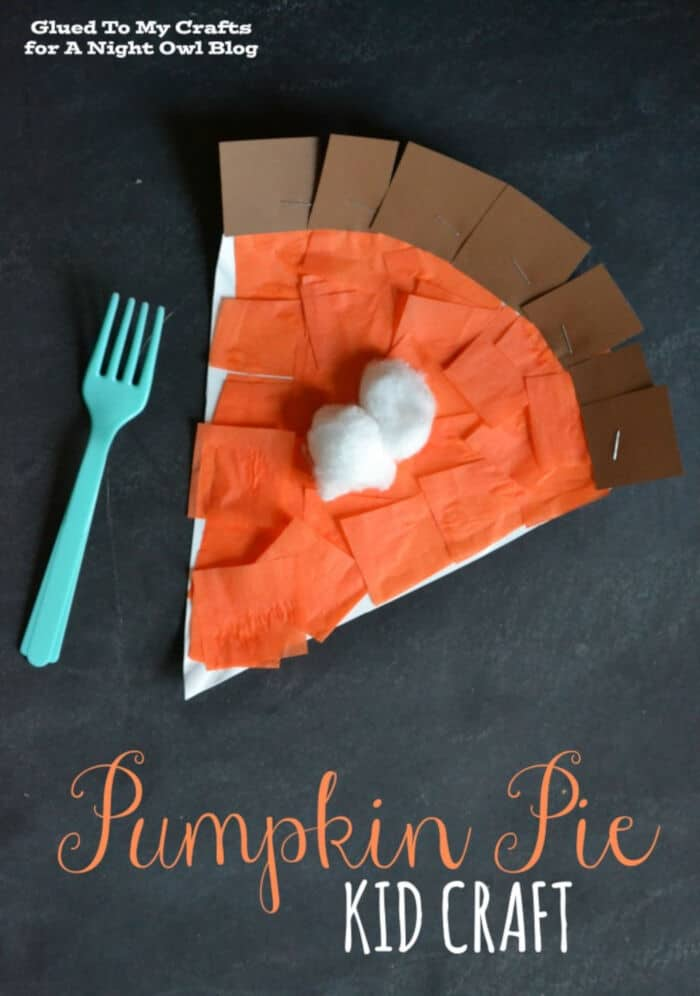 Pumpkin Pie Kids Craft by A Night Owl