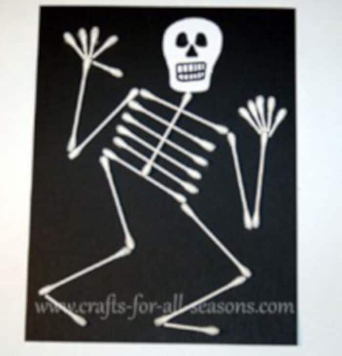 Q-tip Skeleton by Crafts For All Seasons