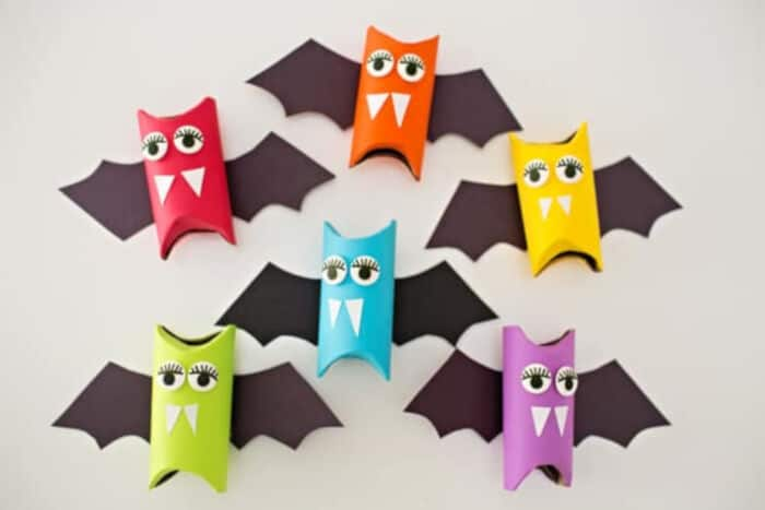 Rainbow Paper Tube Bats by Hello, Wonderful