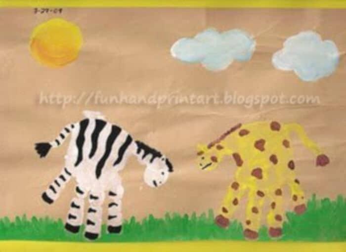 Safari-Art-by-Fun-Handprint-Art