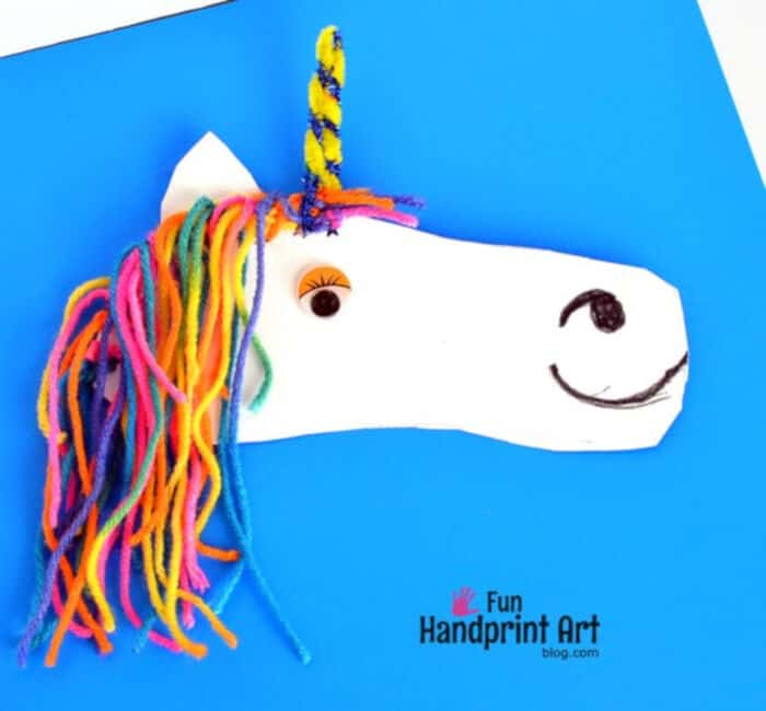 Shoe Shaped Unicorn Fine Motor Craft by Fun Handprint Art