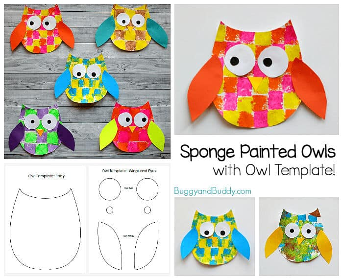 Sponge-Painted-Owl-Craft-for-Kids-with-Owl-Template-by-Buggy-and-Buddy