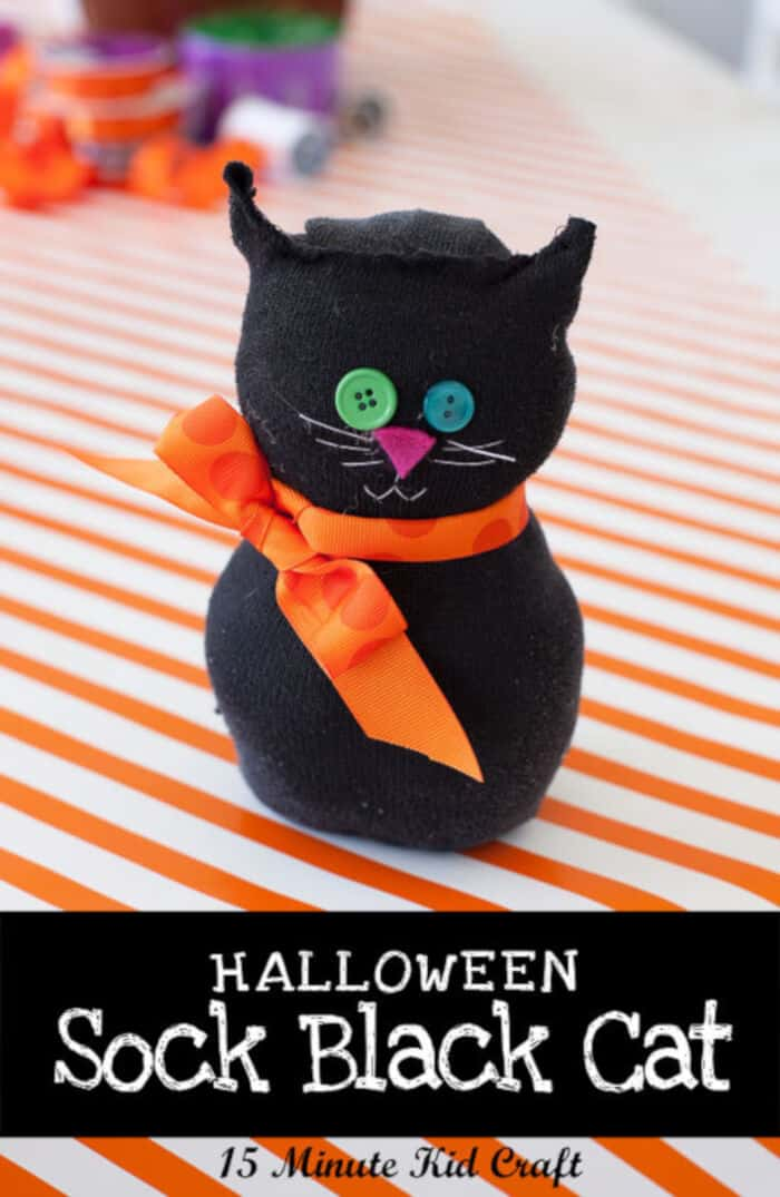 Spooky Black Sock Cat by Hometalk