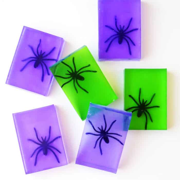 Spooky Spider Soap Halloween Craft by Happiness Is Homemade