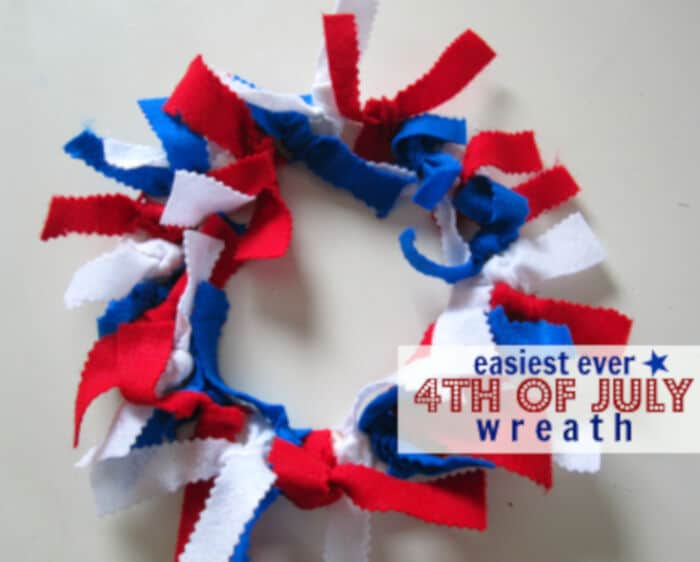 Super Easy 4th of July Wreath by No Time For Flash Cards