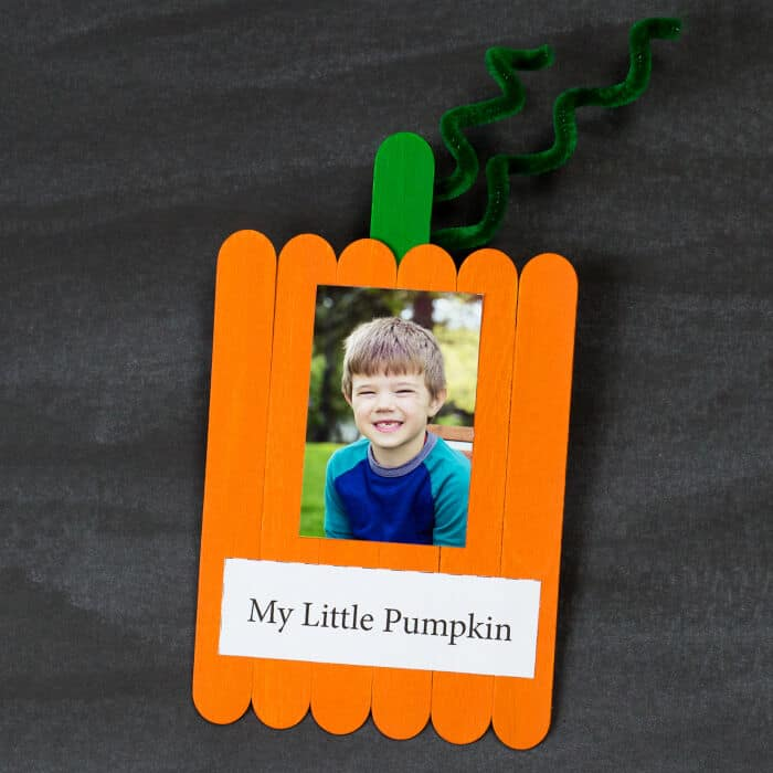 Sweet Popsicle Stick Pumpkin Keepsake by Fireflies and Mud Pies