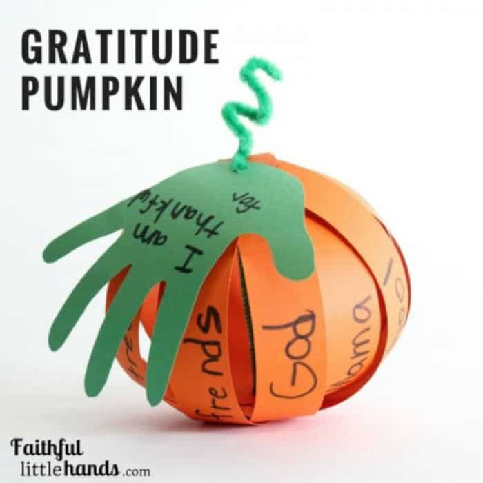 Thanksgiving Gratitude Pumpkin by Faithful Little Hands