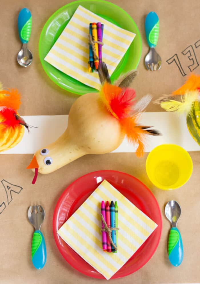 Thanksgiving Kids Table with Munchkin by Design Improvised