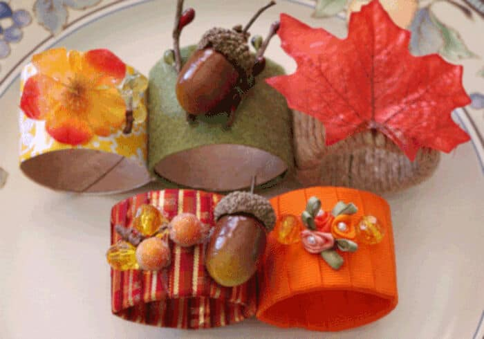 Thanksgiving Napkin Rings by Happiness Is Homemade