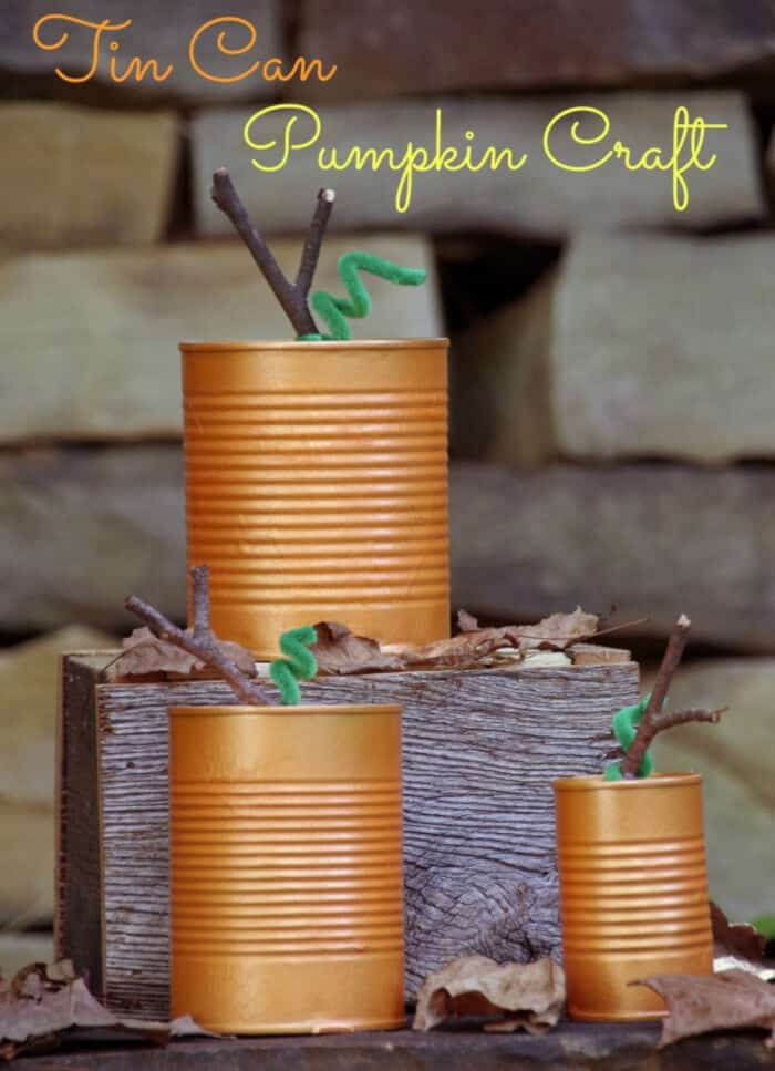 Tin Can Pumpkins by Suburbia Unwrapped