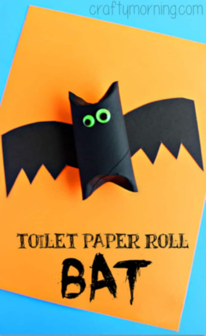 Toilet Paper Roll Bat Craft for Kids by Crafty Morning