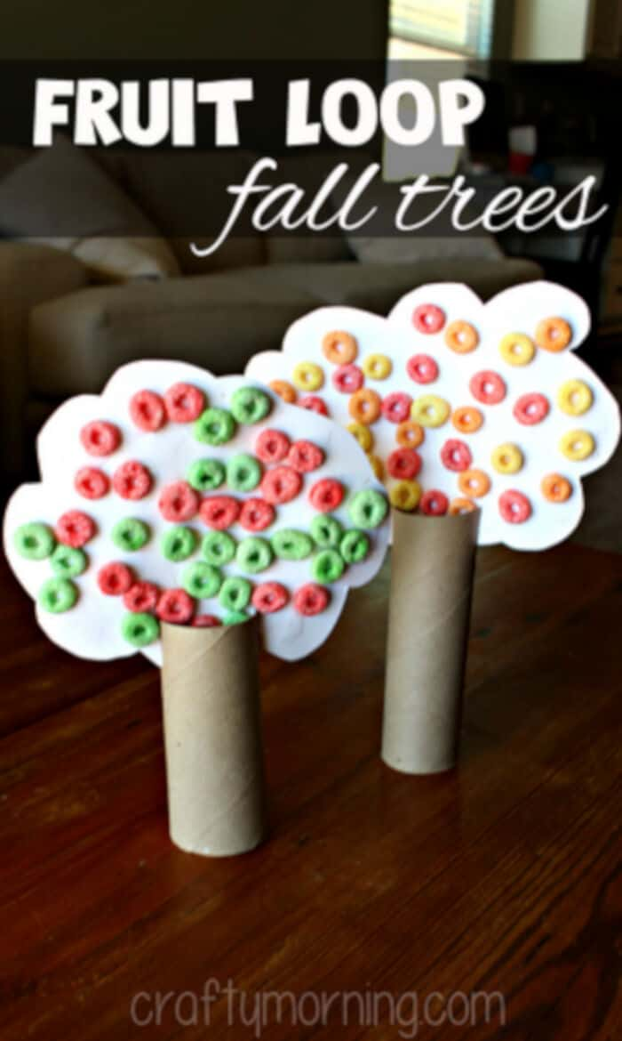 Toilet Paper Roll Fall Tree Craft by Crafty Morning