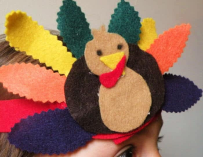 Turkey Day Headband Tutorial - No Sew by Toddler Approved
