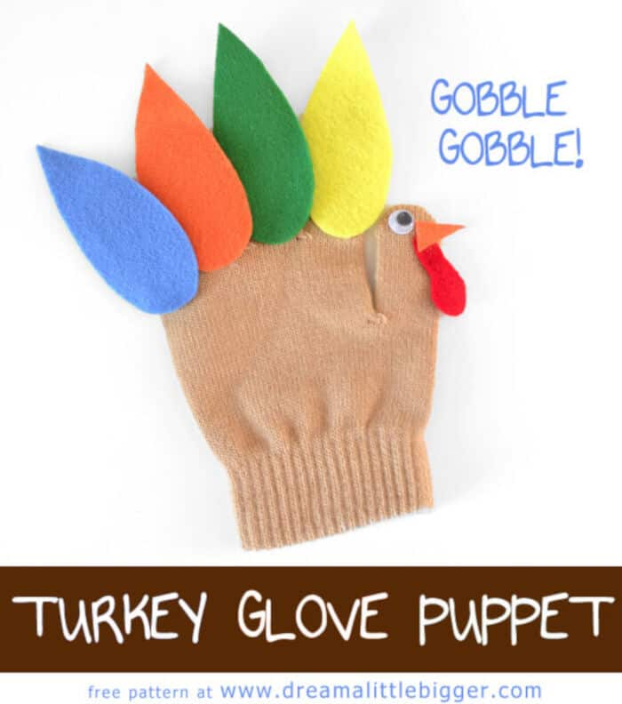 Turkey Glove Puppet Free Pattern by Dream a Little Bigger