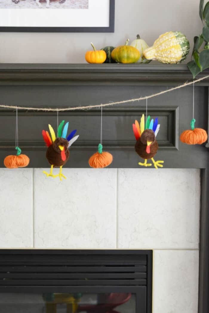 Turkey and Pumpkin Thanksgiving Garland by Frugal Mom Eh!