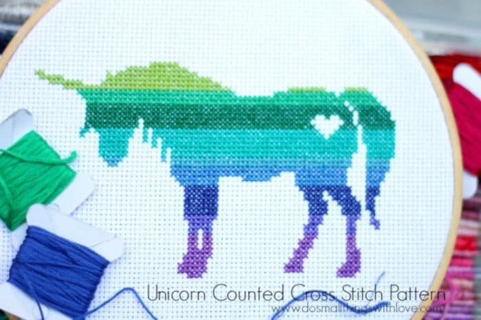 Unicorn Counted Cross Stitch Pattern by Catholic Sprouts