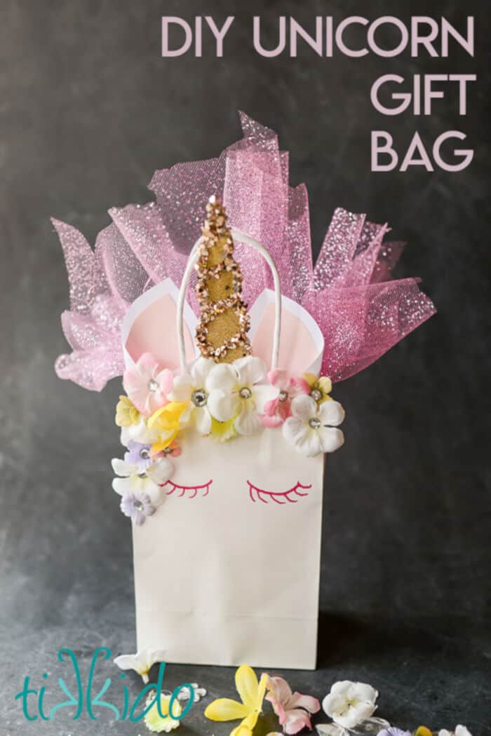 Unicorn Gift Bag by Tikkido