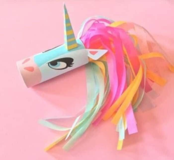 Unicorn Head Toilet Tube Craft Printable by Cut Out + Keep