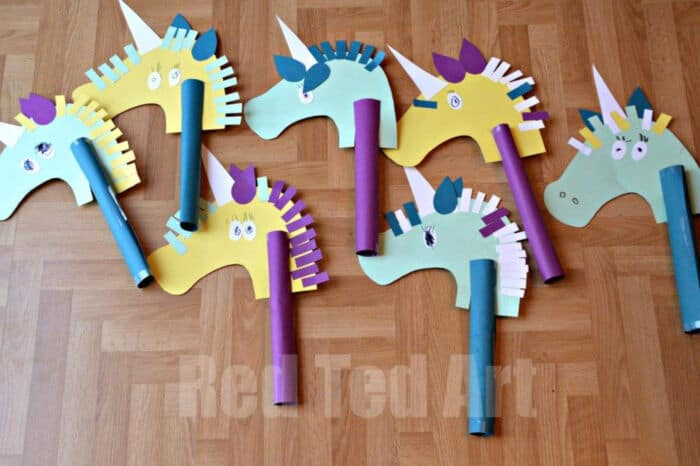 Unicorn Hobby Horse Craft by Red Ted Art