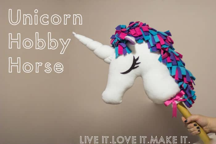 Unicorn Hobbyhorse by Live it Love it Make it