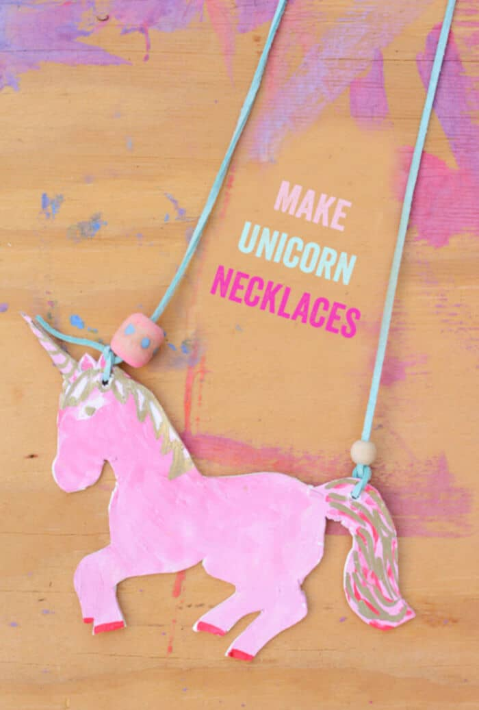 Unicorn Necklace for Kids by Meri Cherry