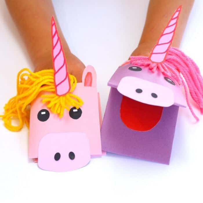 Unicorn Paper Hand Puppet by Make Film Play