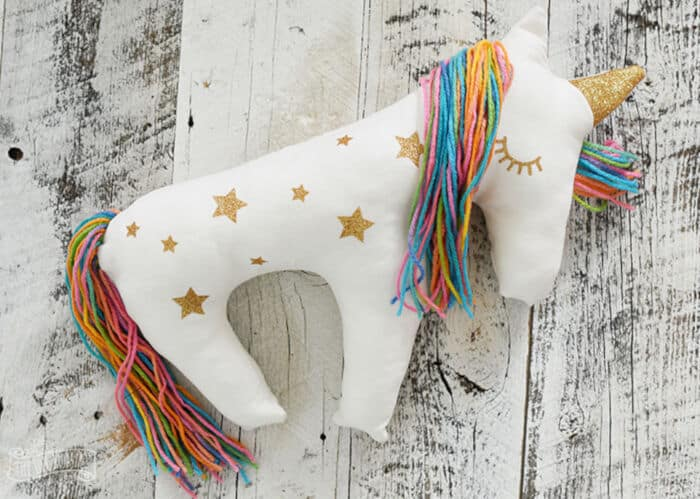 Unicorn Plush Pillow by The DIY Mommy