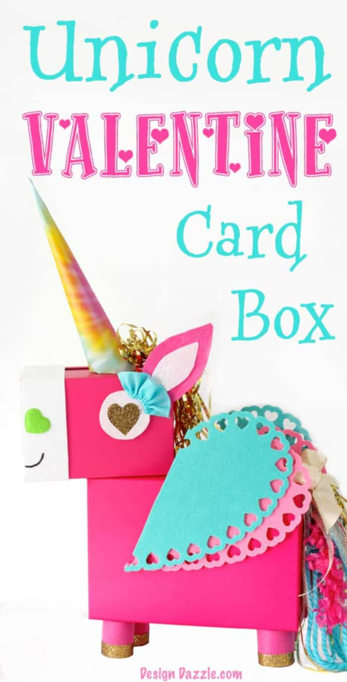 Unicorn Valentine Card Box by Design Dazzle